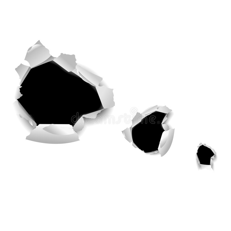 High Detailed Hole in Paper. High Detailed Hole in White Paper. Vector Illustration. No Meshes vector illustration