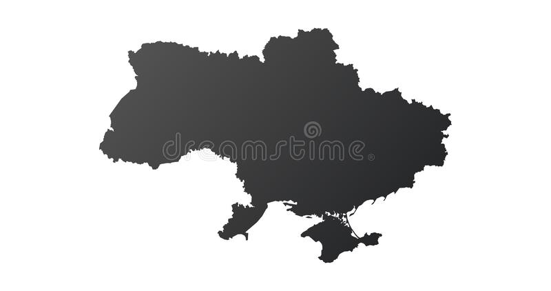 High detailed map of Ukraine icon. Vector illustration isolated on white background vector illustration