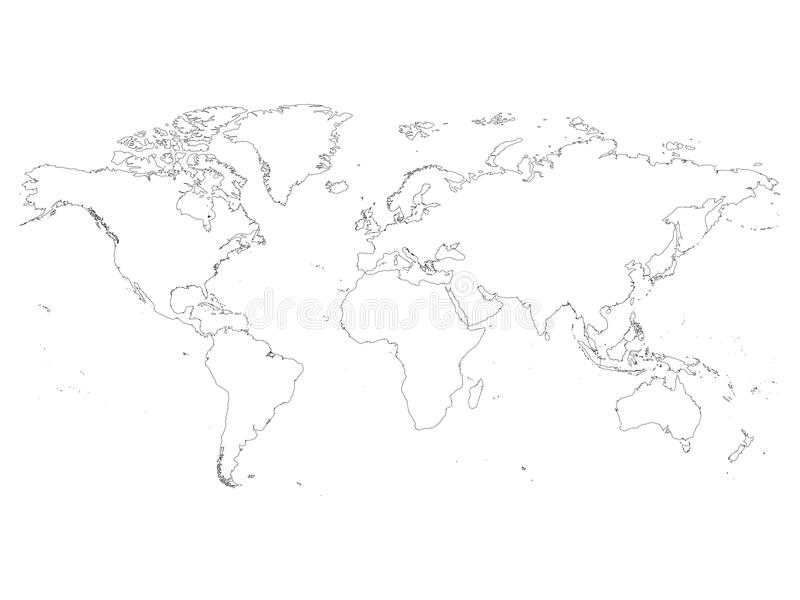 world map outline simple