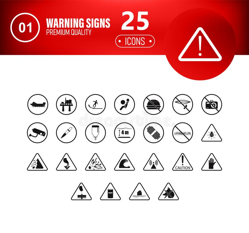 High Detailed Prohibition Signs isolated Vector illustration vector illustration