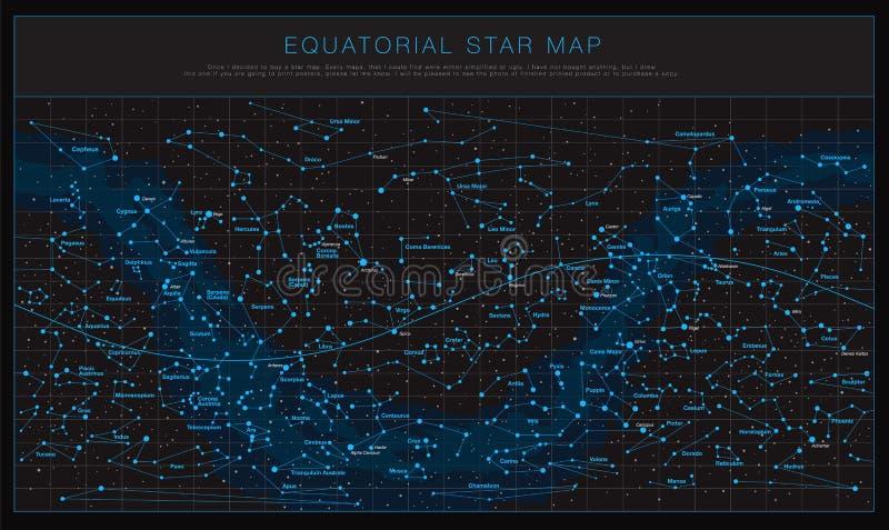 High Detailed Sky Map Southern Hemisphere Names Stars Stock