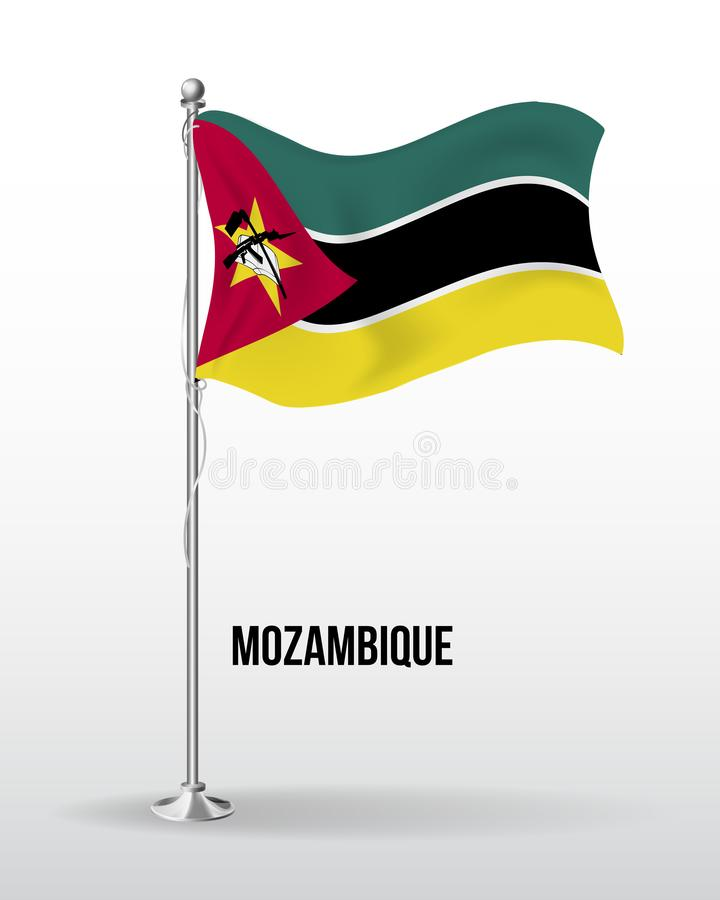 High detailed vector flag of Mozambique stock illustration