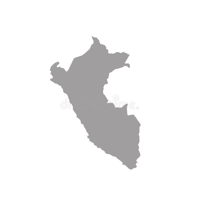 High detailed vector map Peru stock images