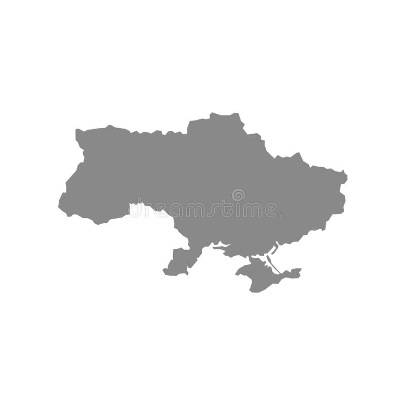 High detailed vector map - Ukraine royalty free illustration