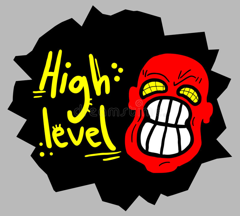 High difficulty. Creative design of high difficulty stock illustration