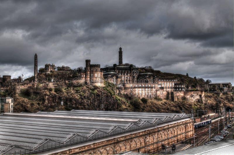 High Dynamic Range - Edinburg royaltyfri fotografi