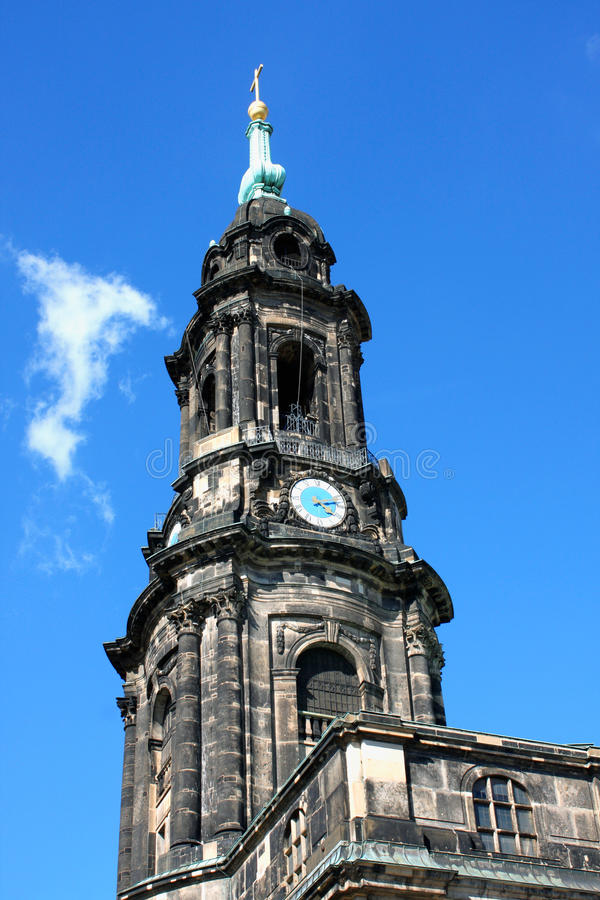 High dynamic range HDR Kreuzkirche meaning Church of the Holy Cr royalty free stock image