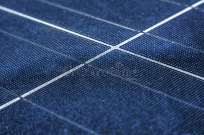 High efficiency solar panels royalty free stock photo