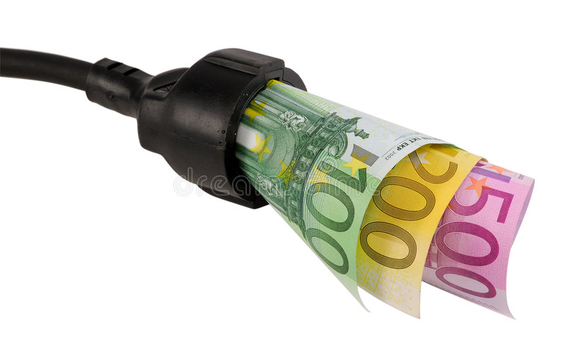 High electricity costs royalty free stock photography