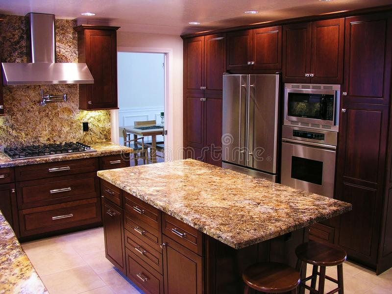 Download High End Kitchen Stock Image. Image Of Fresh, Tile, Cabinets    9599717
