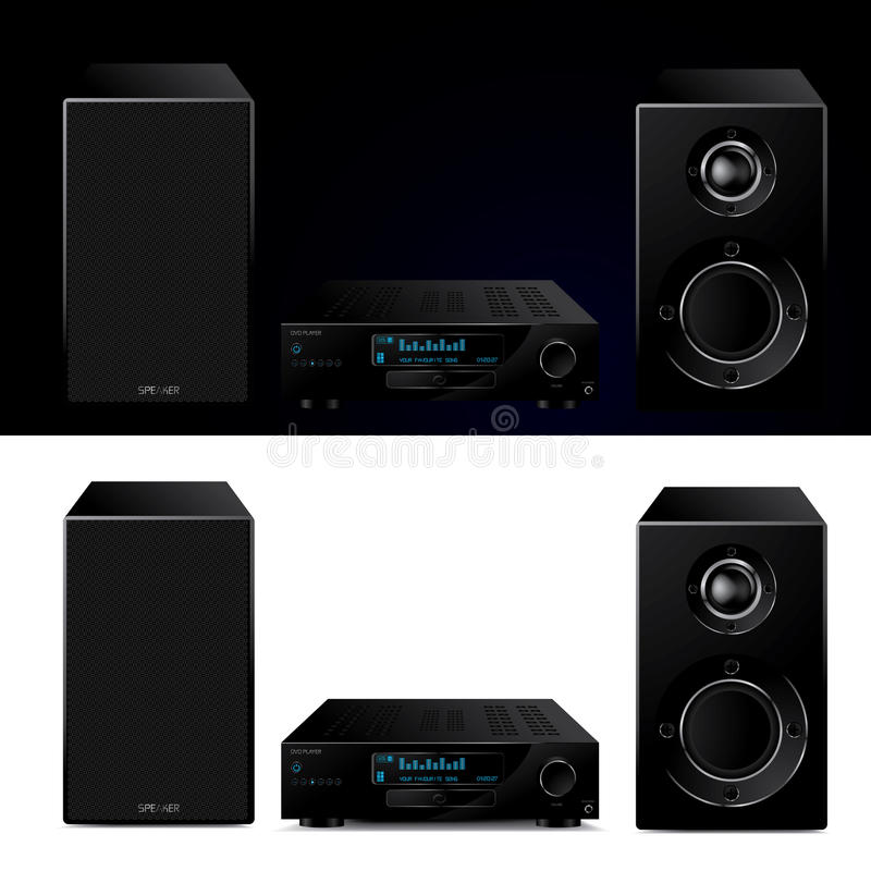 High End Modern Audio System Stock Image