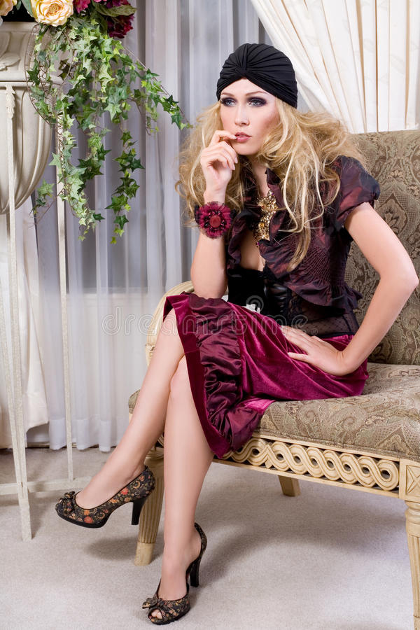 High Fashion Blonde stock photography