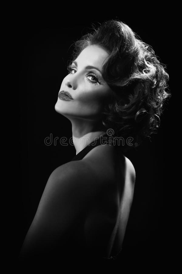 High Fashion Concept With a Beautiful Woman stock images