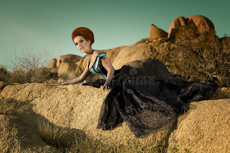 High Fashion Desert Queen royalty free stock photos