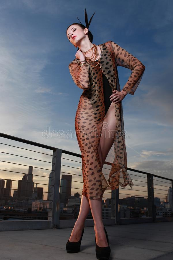 High Fashion Editorial Concept Beautiful Woman Stock Image