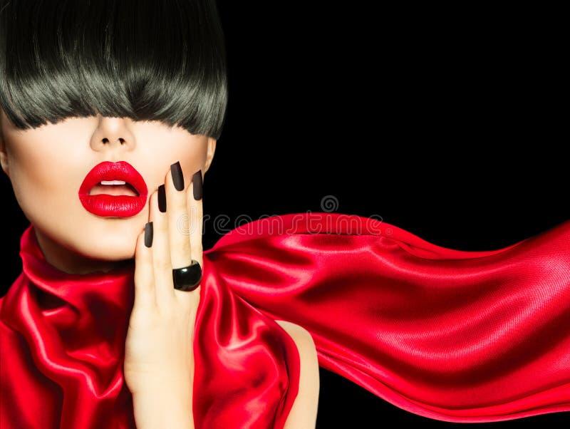 Download High Fashion Girl stock photo. Image of hair, up, dark - 38416624