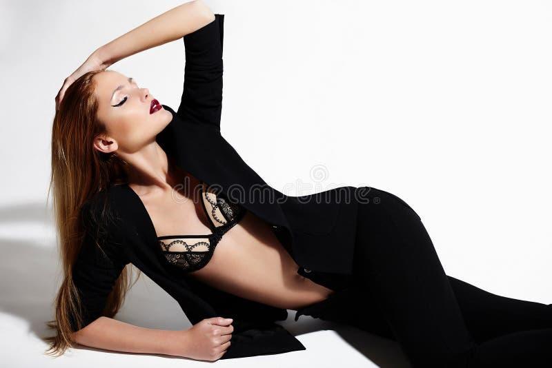 Stylish Caucasian Young Model Stock Photo