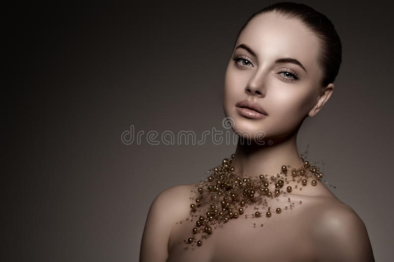 High-fashion Model Girl. Beauty Woman high fashion Vogue Style P stock image