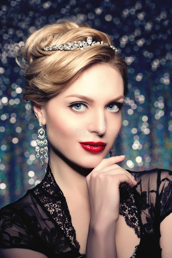 High-fashion Model Girl Beauty Woman high fashion Vogue Style Po stock images