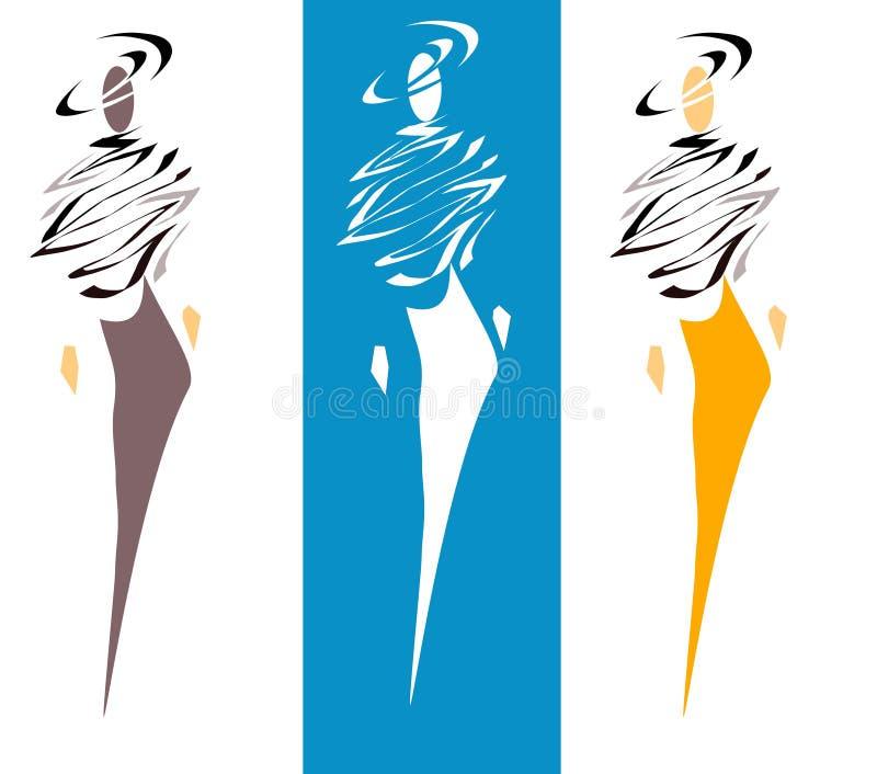High fashion models vector illustration