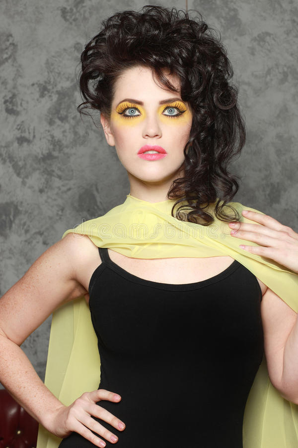 Download High Fashion Woman With Piercing Eyes Stock Image - Image: 24852221