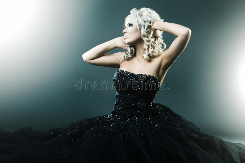 High fashion woman in pose royalty free stock photo