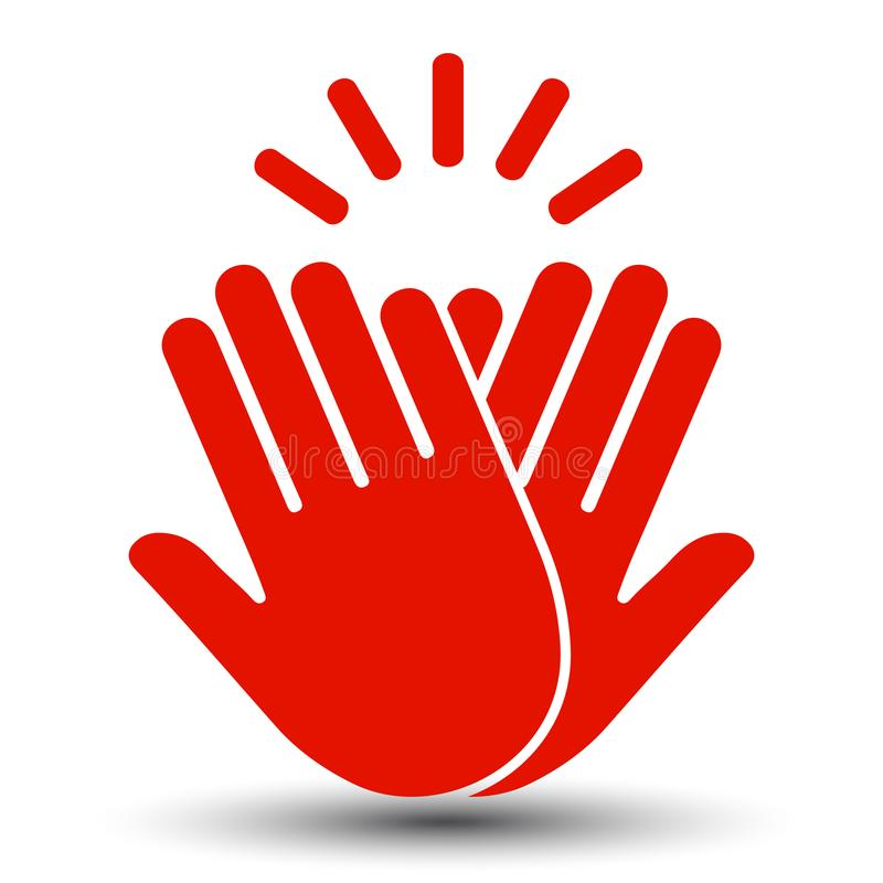 High Five Icon - vector. High Five Icon – stock vector stock illustration