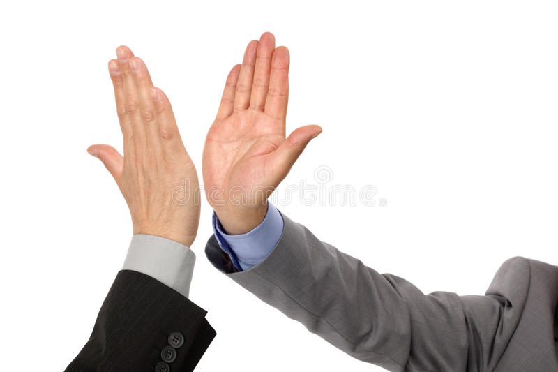 High five success royalty free stock photos