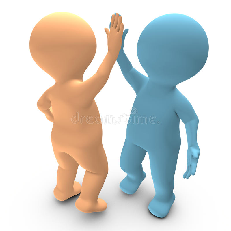 A High Five Between Two Persons That Celebrate A Success Royalty Free Stock Photos