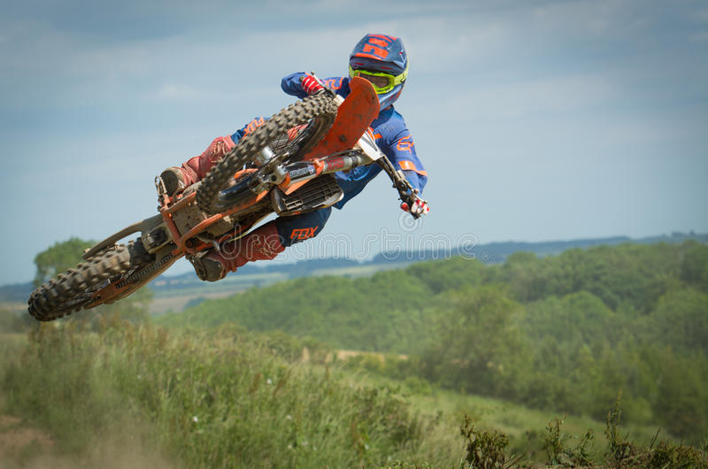 High flyer sideways. Stress free type of day at the motox royalty free stock photography
