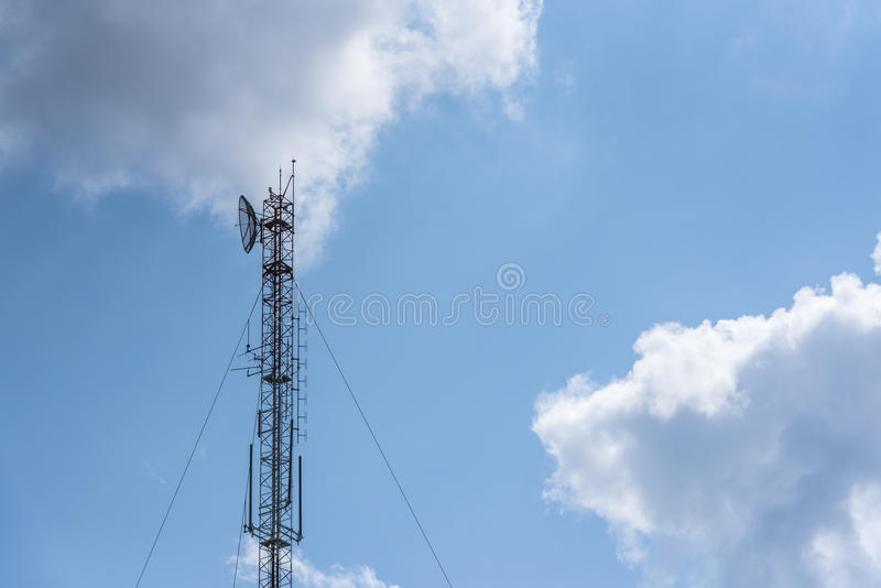 High frequency telecommunication pole. royalty free stock photography