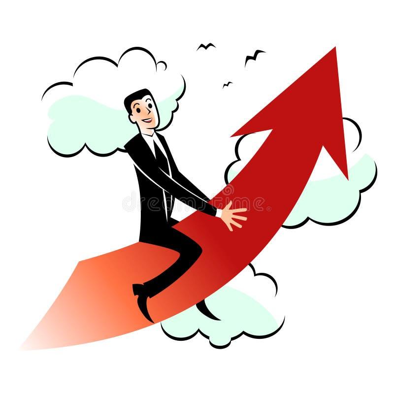 High gain benefit conception. Vector cartoon illustration - high gain benefit conception stock illustration