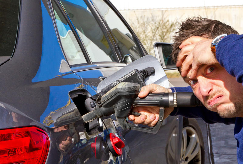 High gas costs royalty free stock image