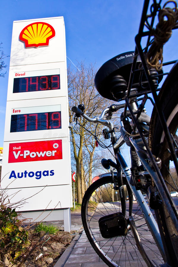 Download High Gas Price Solution Is The Bicycle Editorial Image - Image: 28512820