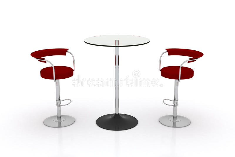Download High Glass Top Table W Chairs Royalty Free Stock Images - Image: 21899439