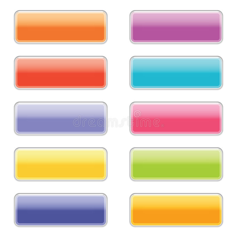 Download High Gloss Web Buttons In Bright Colors Stock Illustration - Image: 7482492