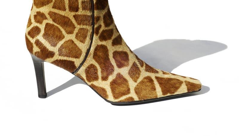 High Heel Boot. A high heel boot made of giraffe skin stock image