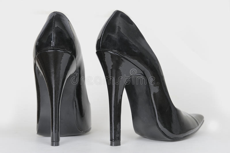 High Heel Shoes. A pair of balck high heel shoes royalty free stock photos