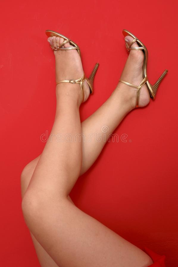 High-heel shoes stock photos