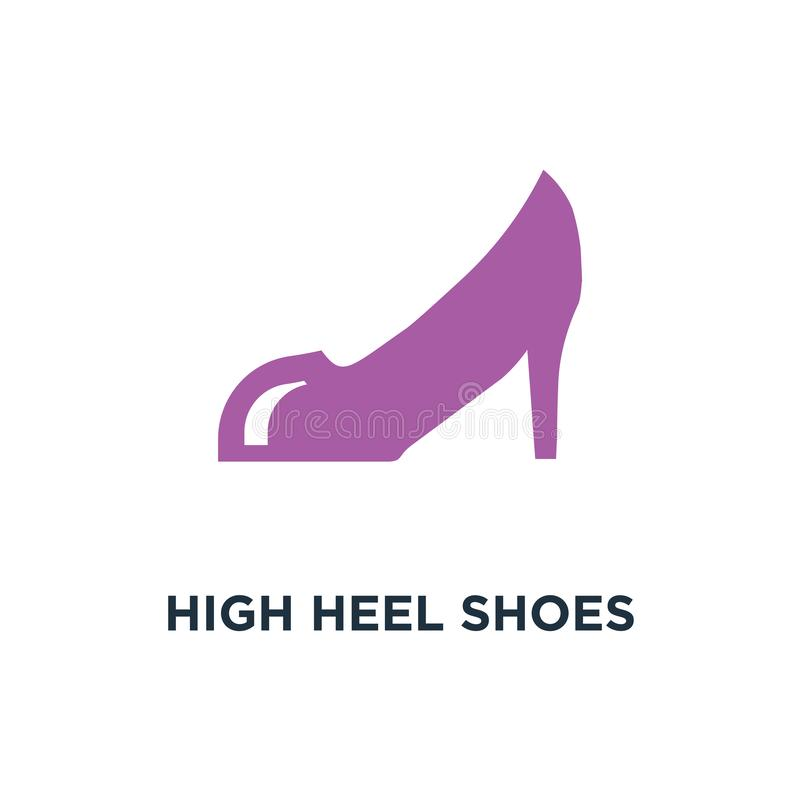 High heel shoes icon. fashion design silhouette concept symbol d. Esign, vector illustration royalty free illustration
