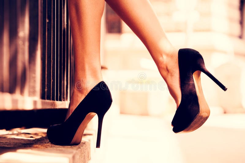High heel shoes royalty free stock photo
