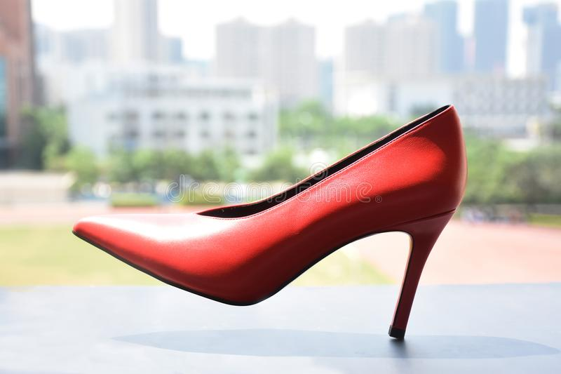High-heeled shoes stock images