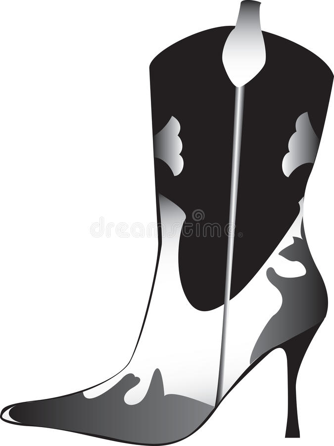 Download High heeled womans boot stock vector. Image of cowboy - 14160990