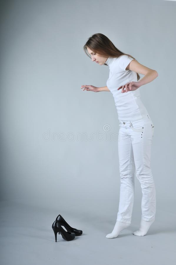 High heels balancing