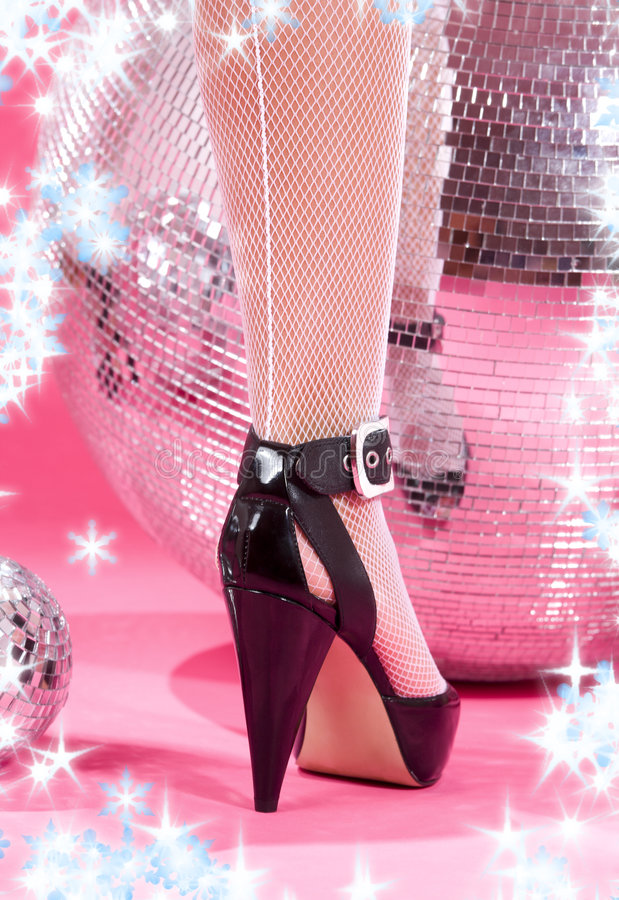Download High heels and disco balls stock photo. Image of back - 7234106