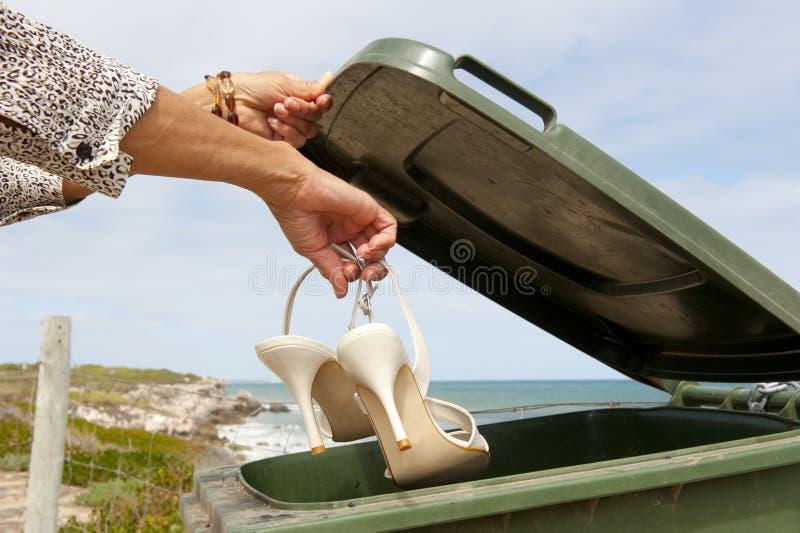High Heels or Health: Recycle Bin stock photo