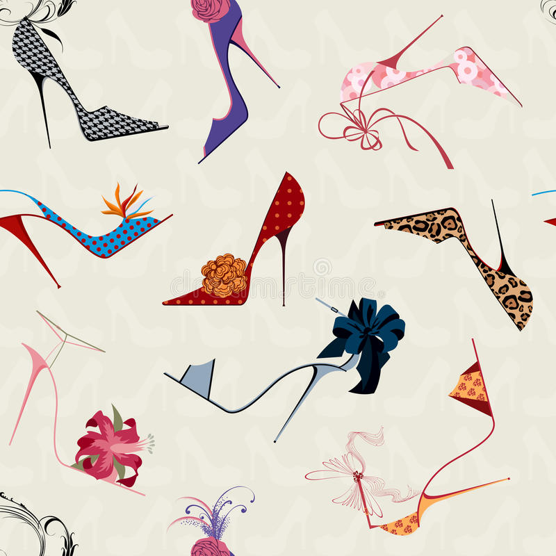 Free High Heels Seamless Pattern Stock Image - 21363181