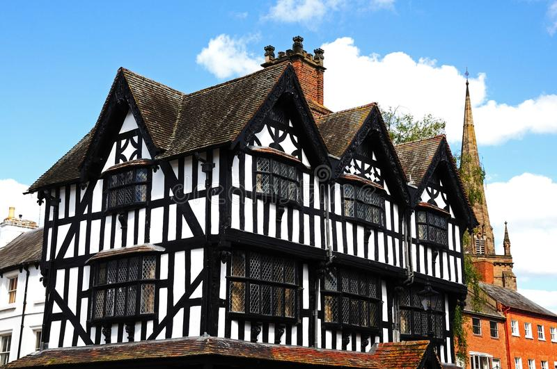 High House, Hereford. The High House in High Town Built in 1621 which was originally part of Butchers Row but now is the only building left standing, Hereford royalty free stock image