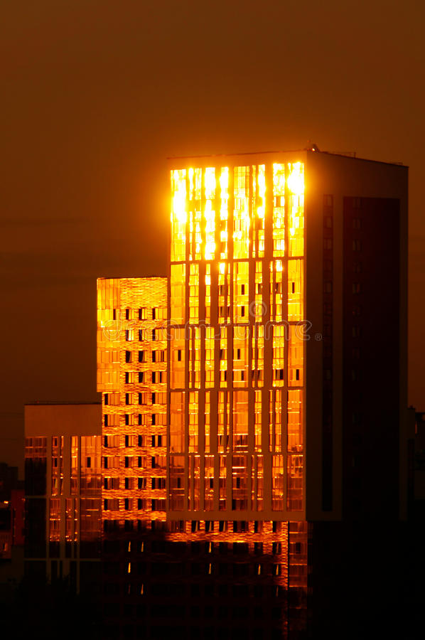 High House with the sheen. Of the setting sun stock photography