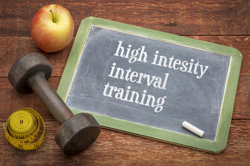 High intensity interval training royalty free stock images